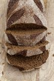 切的面包黑麦 免版税图库摄影