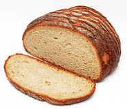 切的面包 免版税库存图片