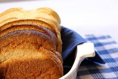 切的面包 库存照片