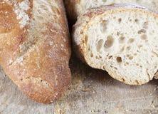 切的面包Ciabatta 库存照片