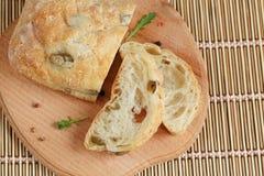 切的面包Ciabatta 免版税库存图片