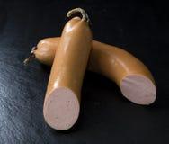 切的香肠(波隆那香肠) 免版税图库摄影