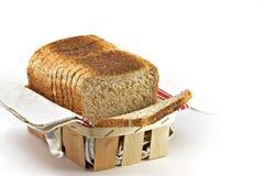 切的麦子面包 免版税图库摄影