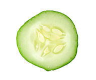 切的黄瓜 免版税库存图片