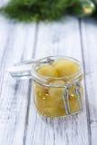 切的黄瓜的部分(被腌制) 图库摄影