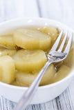 切的黄瓜的部分(被腌制) 免版税图库摄影