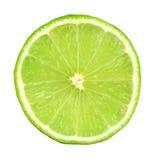 切的绿色柠檬 库存照片