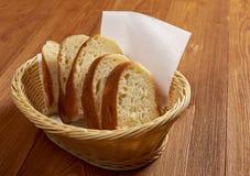 切的ciabatta面包 免版税库存图片