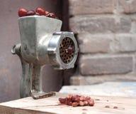 切碎机和樱桃 库存图片