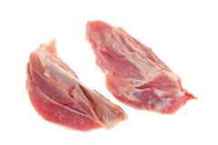 切精瘦的猪肉二 库存图片