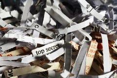 切细的最高机密的信息 免版税库存照片
