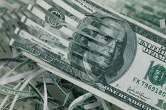 切细的货币 免版税库存照片
