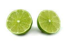 切绿色柠檬 免版税图库摄影