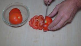 切蕃茄和莴苣 股票视频