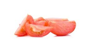 切蕃茄 切好的蕃茄 蕃茄切开了成切片 免版税库存照片