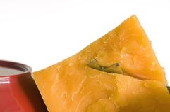 切达乳酪桔子 图库摄影