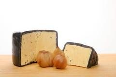 切达乳酪被腌制的农舍葱 免版税库存照片
