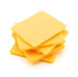 切达干酪片式 免版税库存图片
