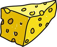 切达干酪 库存例证
