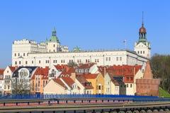 什切青城堡的看法在波兰 免版税图库摄影