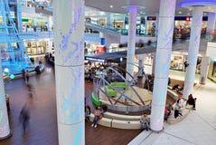 什切青,波兰 2016年9月01日 星系shoping的中心 库存照片