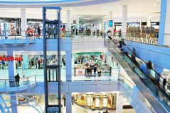 什切青,波兰 2016年9月01日 星系shoping的中心 免版税图库摄影