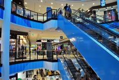 什切青,波兰 2016年9月01日 Kaskada shoping的中心 库存照片