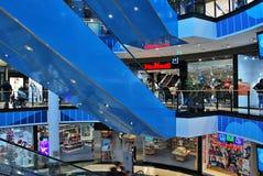 什切青,波兰 2016年9月01日 Kaskada shoping的中心 库存图片