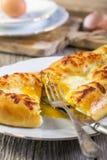 切饼用乳酪和蛋黄 图库摄影