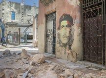 切・格瓦拉街艺术在哈瓦那旧城 免版税图库摄影