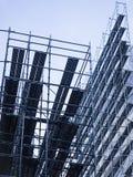 绞刑台和钢建筑建筑工地 库存照片