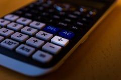 划分一个科学计算器键盘的钥匙 免版税库存图片