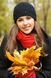 划分为的叶子纵向妇女年轻人 库存图片