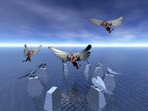 划分为的天使 皇族释放例证