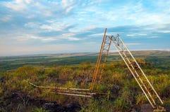 划分为的FARC无线电铁塔 免版税图库摄影