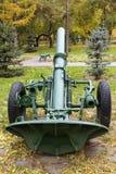 划分俄语160 mm灰浆模型1943年 免版税库存照片