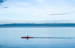 划皮船在塔斯马尼亚岛 免版税库存照片