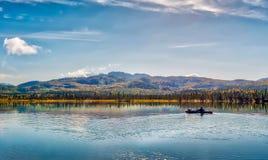 划皮船在阿拉斯加 库存图片