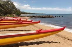 划皮船海洋赛跑 库存照片