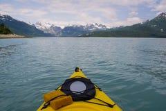 划皮船的原野 免版税图库摄影