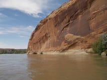 划皮船的圣胡安河 库存照片