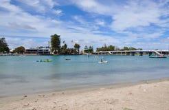 划皮船:Mandurah,西澳州 库存图片