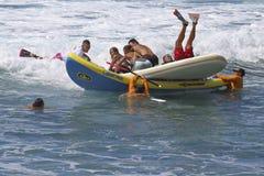 划船不幸事故 图库摄影