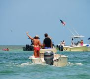 划船假期 库存图片