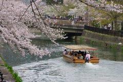 划船在京都 库存图片