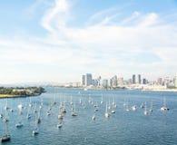 划船在加利福尼亚 图库摄影