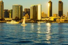 划船在加利福尼亚 免版税图库摄影