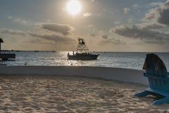 划船在墨西哥 免版税图库摄影