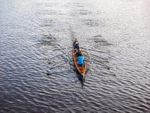 划船在汉堡hdr的乘员组小船 免版税图库摄影