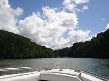 划船在河 免版税库存图片